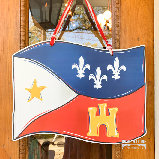 Acadiana Flag Door Hanger
