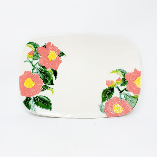 Camellia Flower Cheese Board Serving Platter