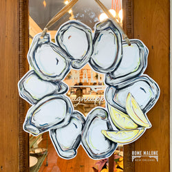 Oyster Wreath Door Hanger