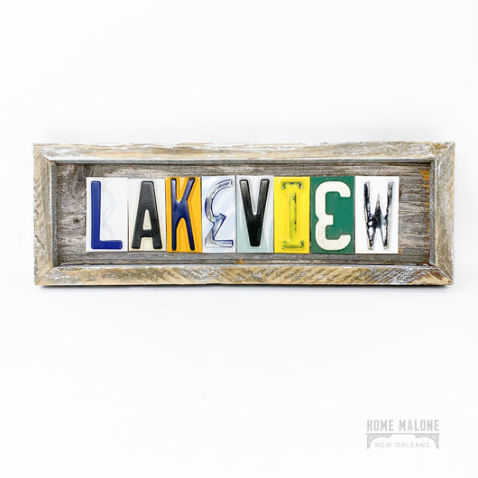 Lakeview License Plate Art