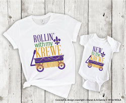 Rollin' With My Krewe Youth Tee
