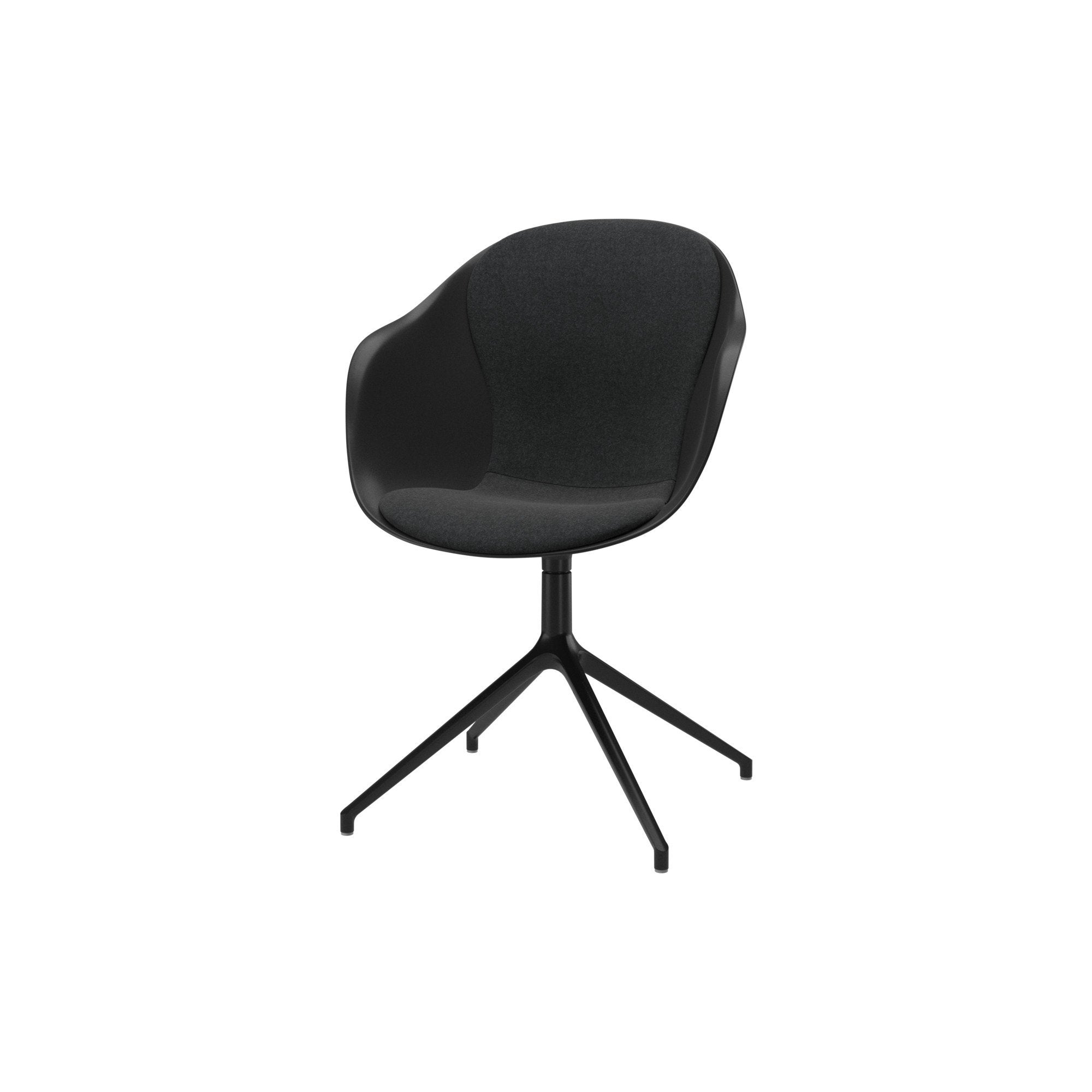 Adelaide Chair with swivel function - Dark Grey with armrests