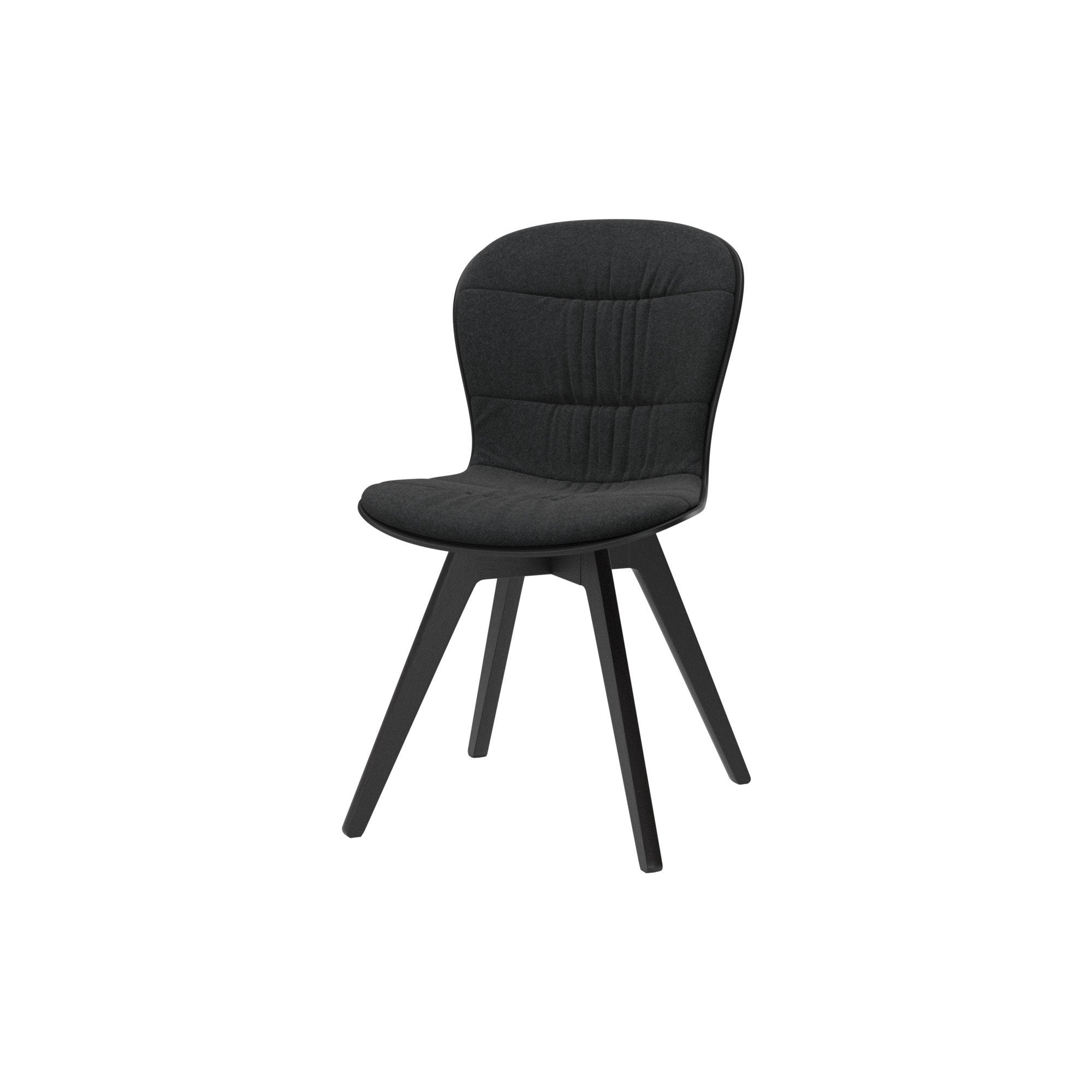 Adelaide Chair - Dark Gray Lux Felt