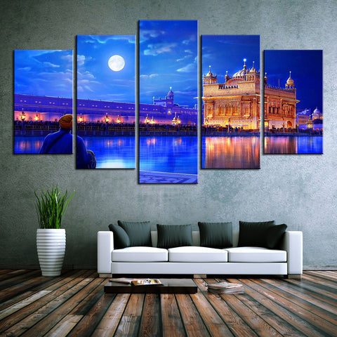 Golden Temple Night Canvas Prints