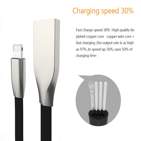 iPhone FAST Charging Lightning Zinc Alloy Cable
