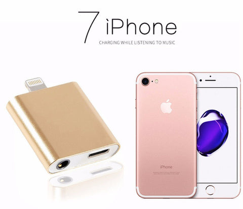 Dual Jack Adapter with Earphone and Charging for iPhone 7