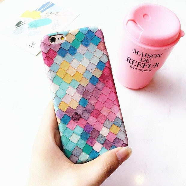 3D Mermaid Scales Phone Cases For iPhone