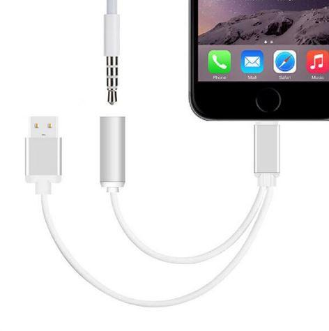Dual Earphone & Charging Cable For iPhone (USB)