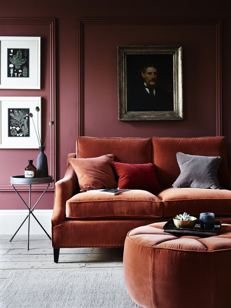 ilka home be bold with velvet and colour feature wall