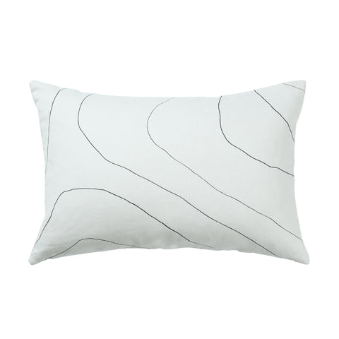 White Ripple Cushion 40 X 60CM