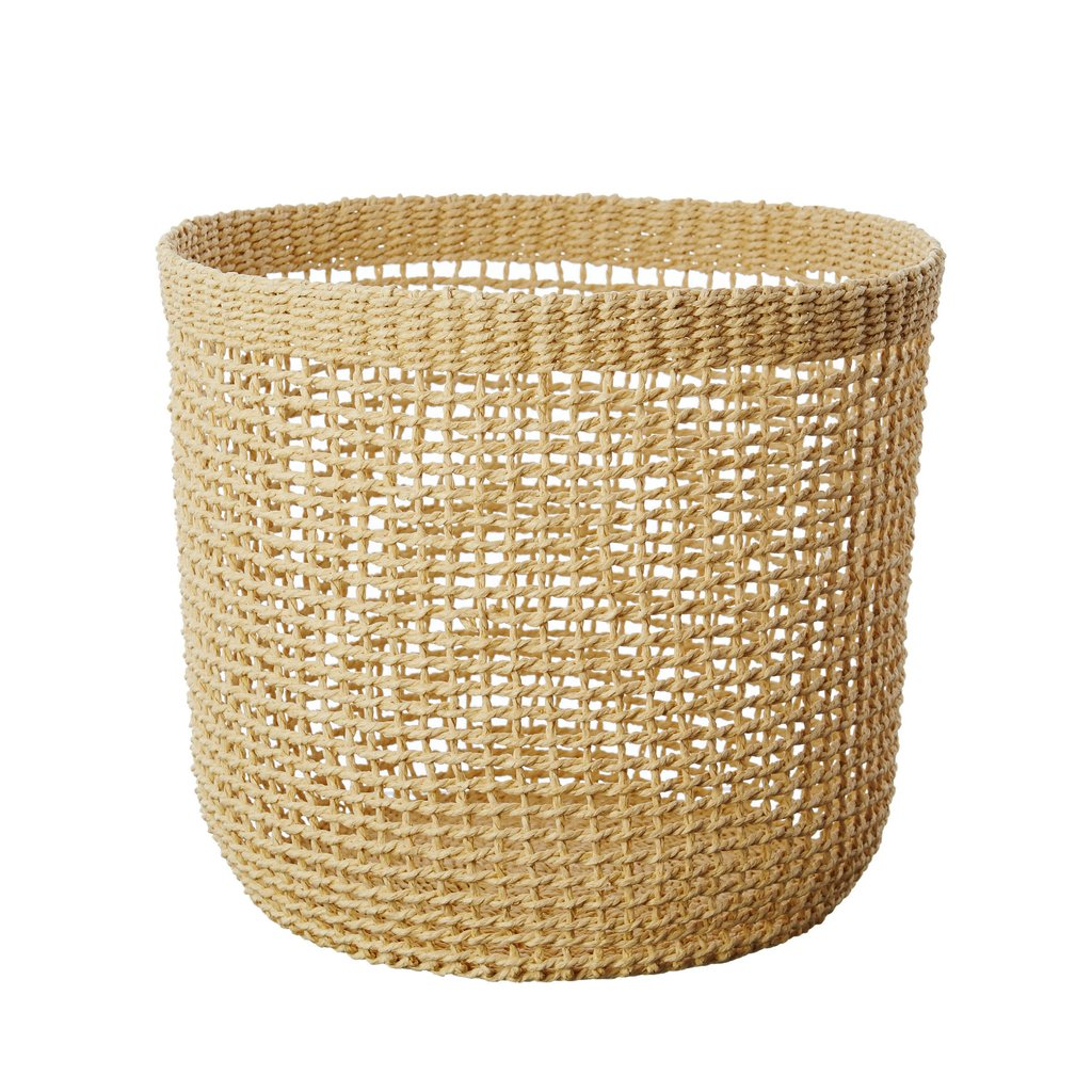 Goldie Recycled Paper Basket Large Natural