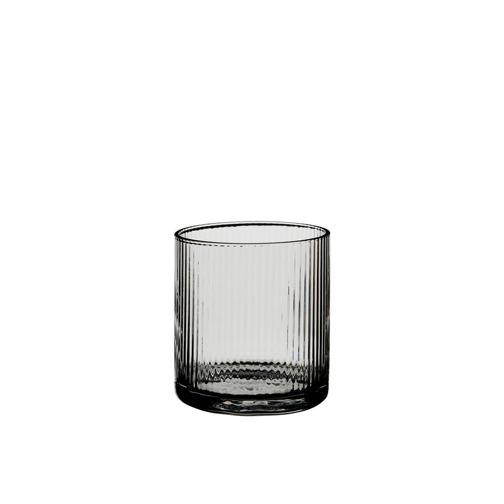 Huck Low Tumbler Rippled Glassware Smoke