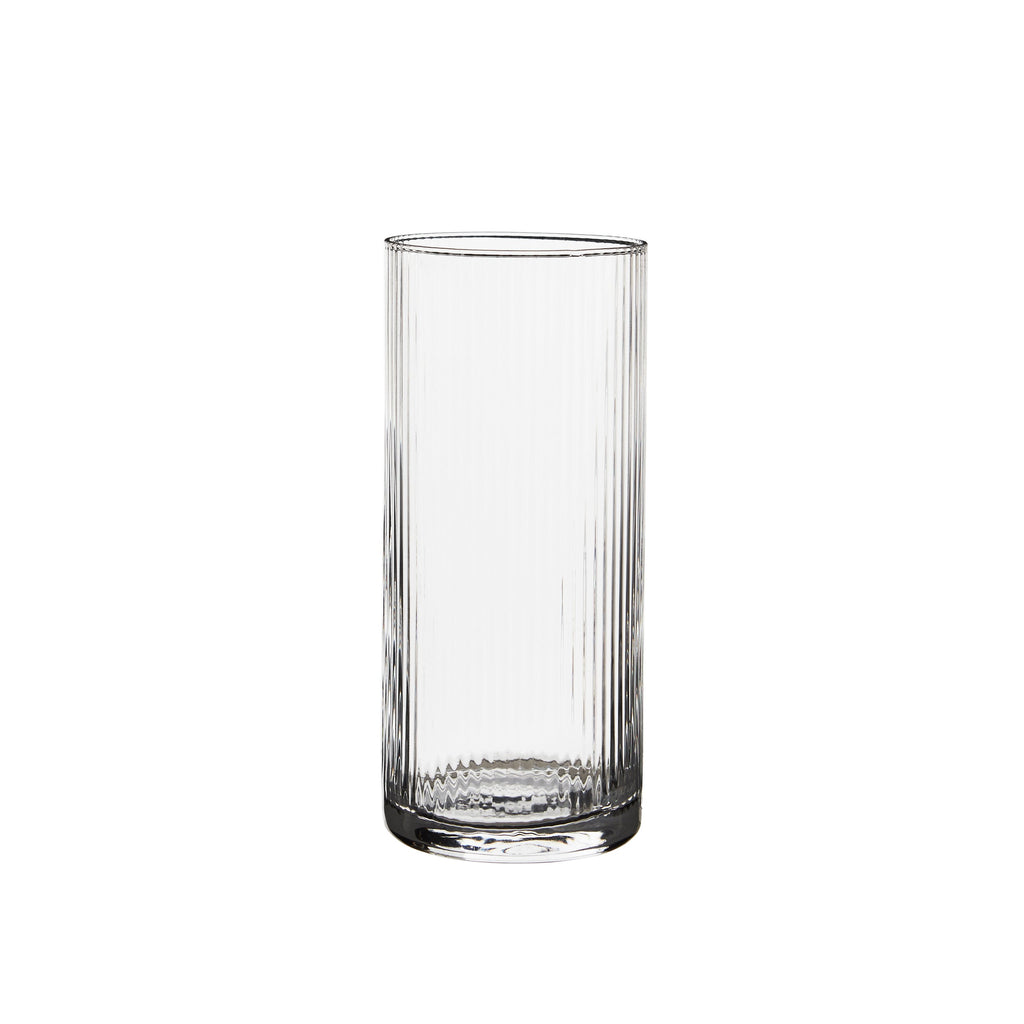 Huck High Tumbler Rippled Glassware Clear