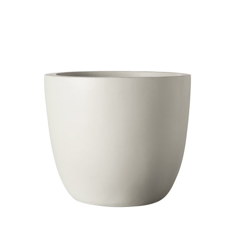Axel Fibre-Clay Pot Medium Light Grey