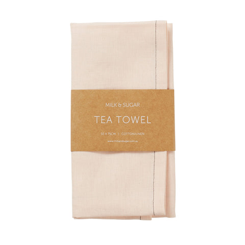 Blush Cotton/Linen Tea Towel