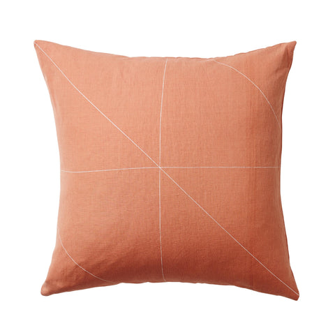 Persimmon Cross feather-filled Cushion