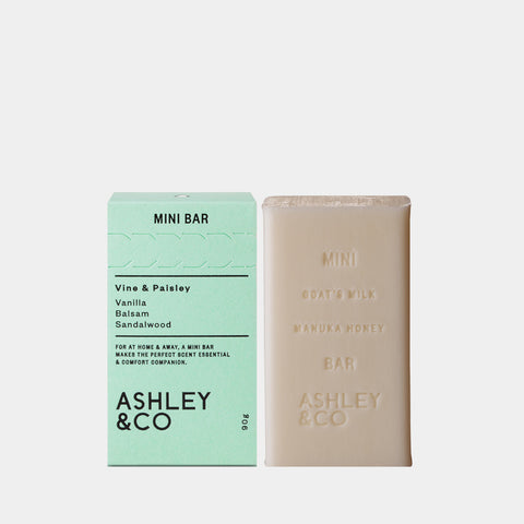 ashley and co mini bar soap vine paisley bar