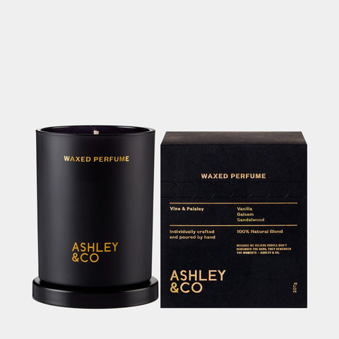 ashley and co waxed perfume candle vine paisley fr