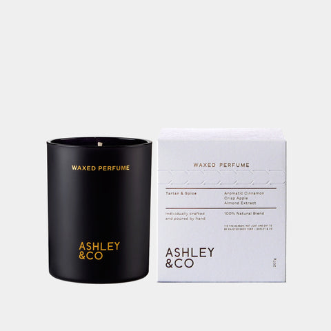 ashley and co Tartan + Spice Rare Edition wax candle vanilla
