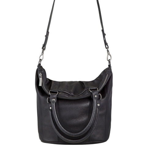 Some Secret Place Leather Black Bag