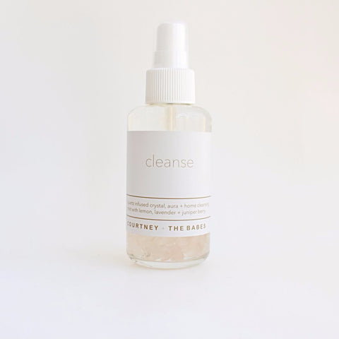 Cleanse Crystal + Home + Aura  Cleansing Spray - Courtney + the babes