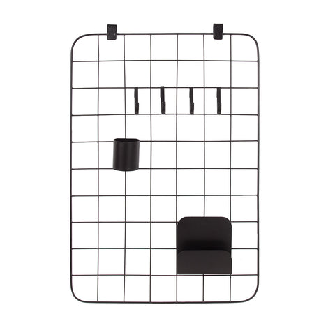 black grid pin organizer monochrome minimal office set