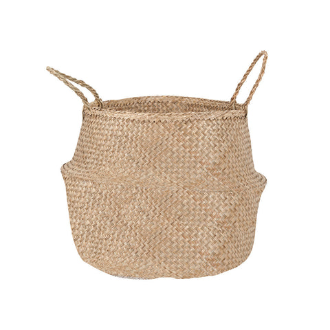 Large Seagrass Belly Basket Natural Storage woven basket