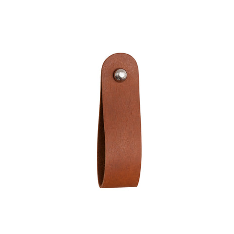 General Eclectic Leather Brown Drawer Pull ILKA HOME