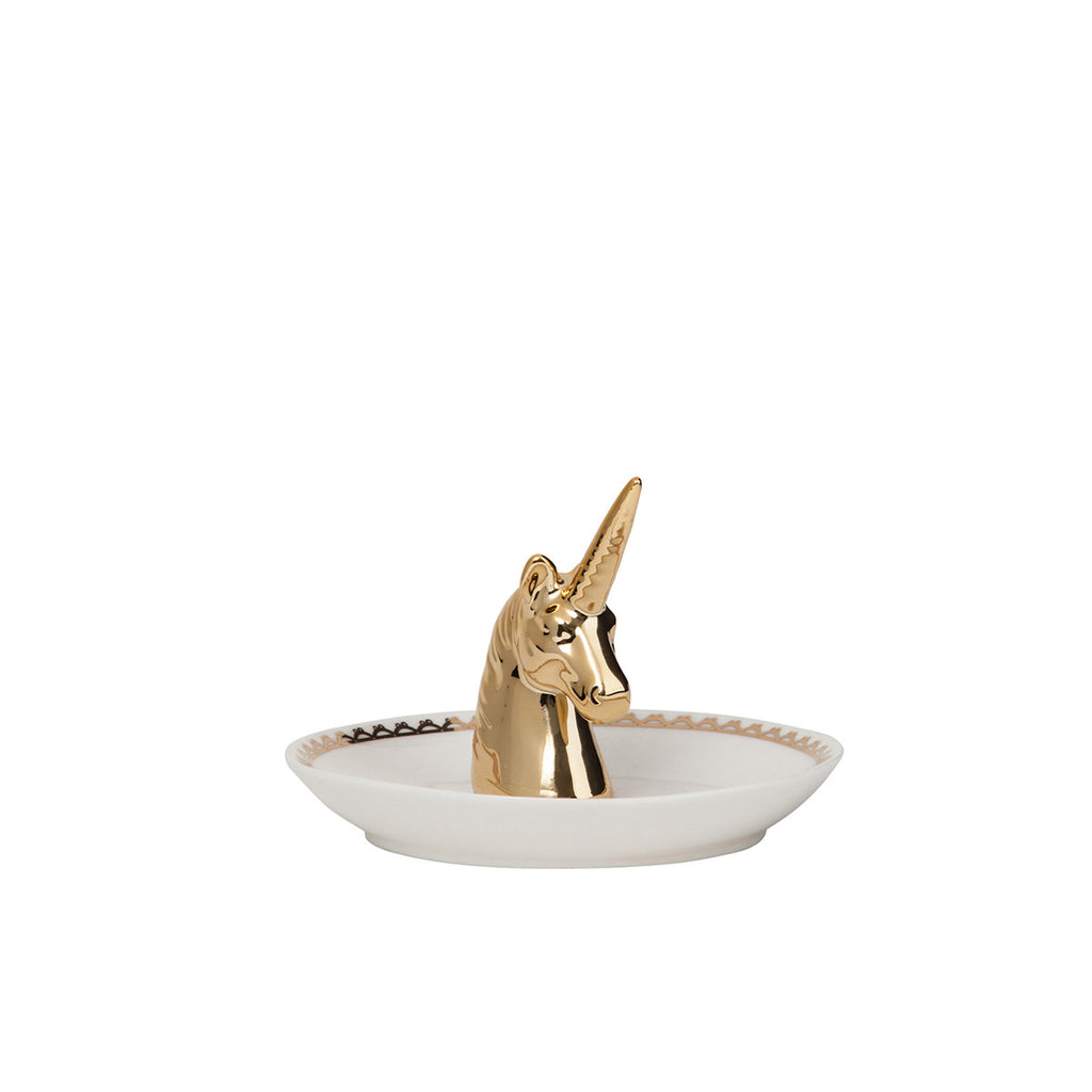 Unicorn Ring Holder general eclectic ceramic white gold