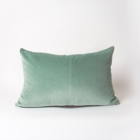 Astrid Lumbar Cushion | Teal Velvet