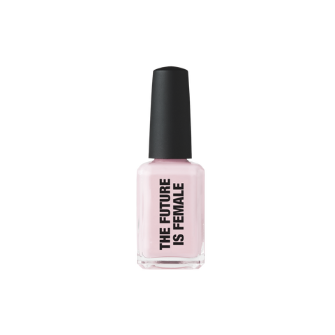 The Future is Female Nail Polish Kester Black pastel pink