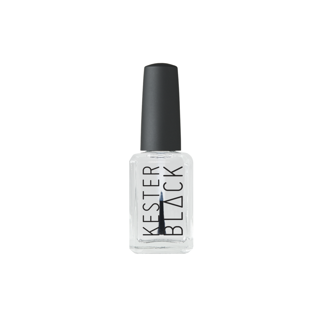 Top and Base Coat Nail Polish Kester Black clear