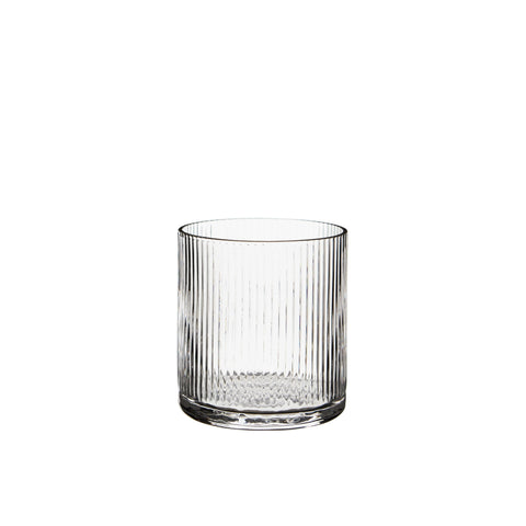 Huck Low Tumbler Rippled Glassware Clear