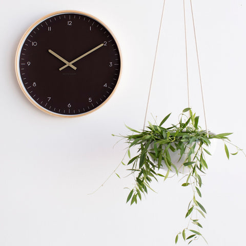 Matias 40cm Wall Clock Charcoal