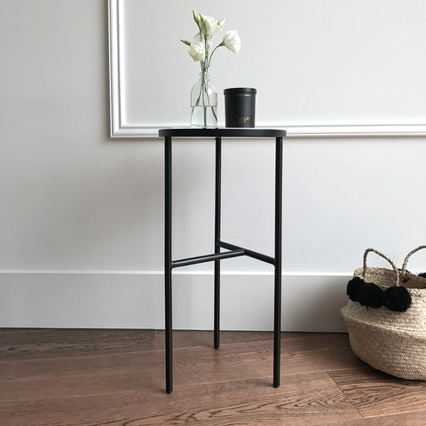 pretty side table by blomingville denmark danish design black metal