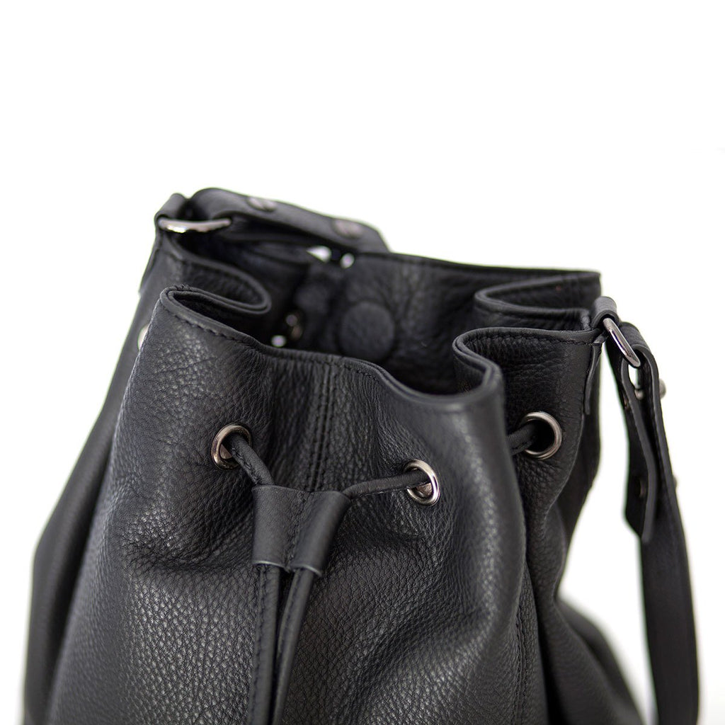 Distant Lover Black Leather Bag