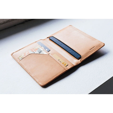 Conquest Passport Wallet Camel