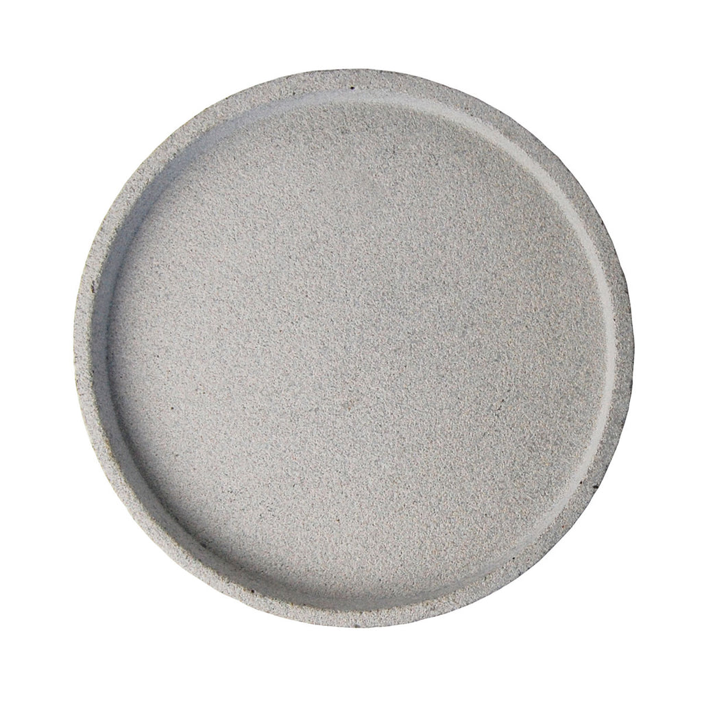 ilka home zakkia concrete round tray large natural