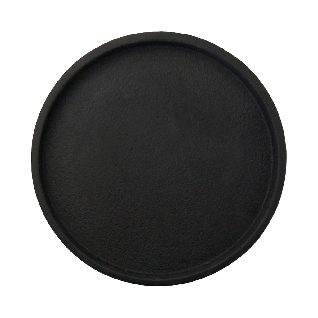 ilka home zakkia concrete tray black round