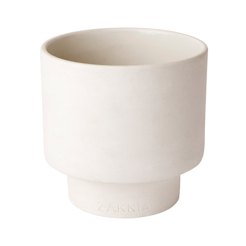 ilka home zakkia podium pot medium white grande