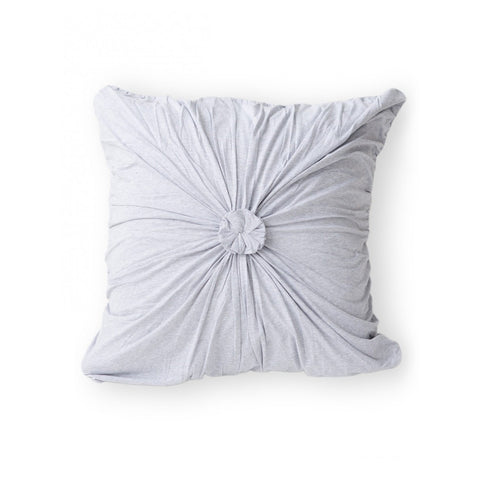 Rosette Euro Pillowcase organic cotton jersey grey marle lazybones