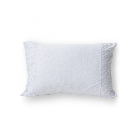 Organic cotton jersey rosette standard pillowcase by lazybones