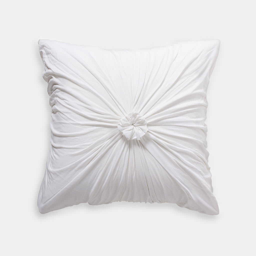 lazybones rosette euro pillow case organic cotton