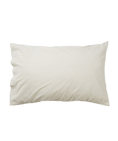 Stonewashed Cotton Pillow Case Set - Stone
