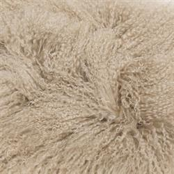 Mongolian Sheepskin Cushion | Fawn