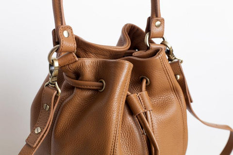 Distant Lover Tan Leather Bag