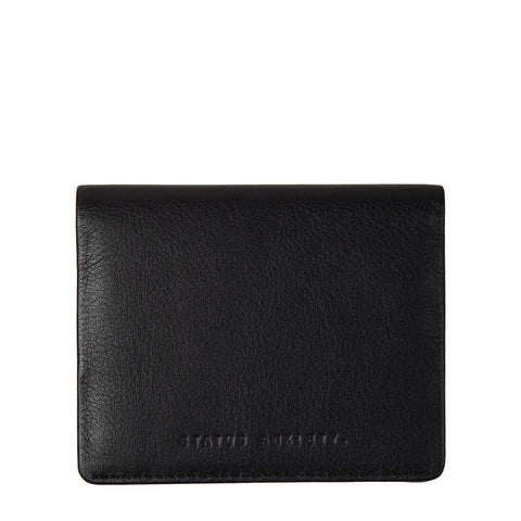 status anxiety lennen wallet leather black front