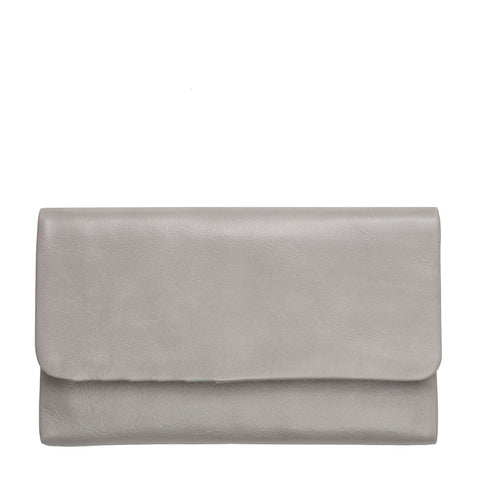 Status Anxiety Audrey Leather Wallet Light Grey Ilka Home