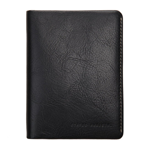 Status Anxiety Conquest Black Leather Wallet Passport ILKA HOME