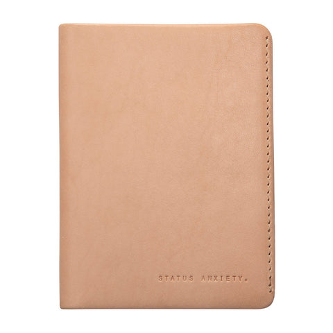 Status Anxiety Conquest Tan Leather Wallet Passport ILKA HOME